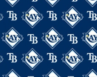 """Tampa Bay Rays Fabric, Rays Fabric, MLB Fabric in various lengths by 59"""" width"""