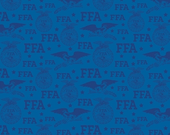 FFA Fabric, Future Famers of America Fabric Blue Logo Fabric by the yard and other various lengths