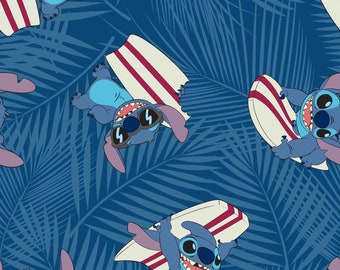 Disney Stitch Sufer Fabric in various lengths