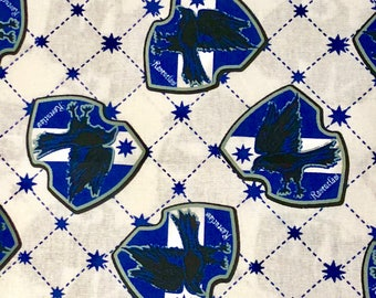 Harry Potter Fabric, Ravenclaw House Fabric, 100% Quilting Cotton, Camelot Fabrics, By the yard and other various lengths