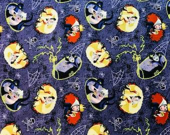 Disney Villains Fabric By The Yard, Maleficent, Ursula, Cruella De Vil, The Evil Queen, Disney Fabric, Villains Fabric, Disney Villains