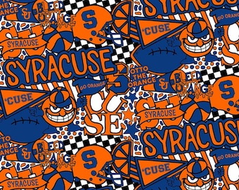 Syracuse Cheer Toss fabric in various lengths