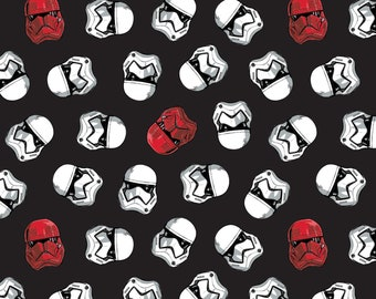 Star Wars Storm Troopers & Sith Black Fabric in various lengths