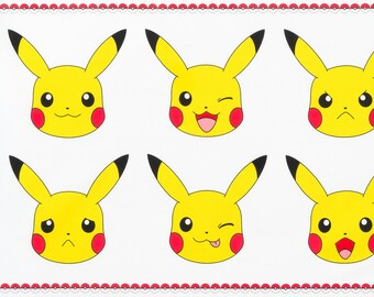 Pokemon Fabric, Pikachu, Cotton Fabric, Pokemon Pikachu, Panel