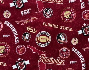 Florida State University Toss Cotton Fabric in various lengths