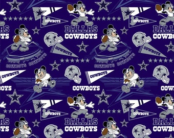 This Will Not Ship Until October 2020, Read Item Details For Presale Ordering Info, Dallas Cowboys & Mickey Mouse fabric in various lengths