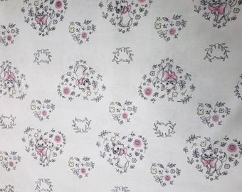 Disney Sweet Marie White Fabric By The Yard and half yard and other various lengths