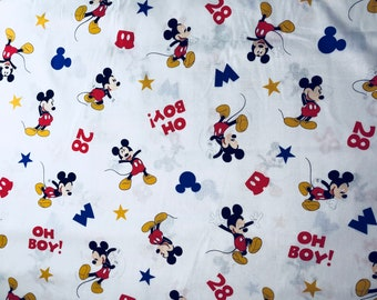 Disney Mickey Mouse Oh Boy Fabric by the yard and half yard and other various lengths