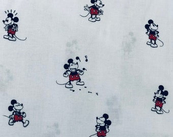 Disney Mickey Mouse Fabric by the yard and half yard and other various lengths