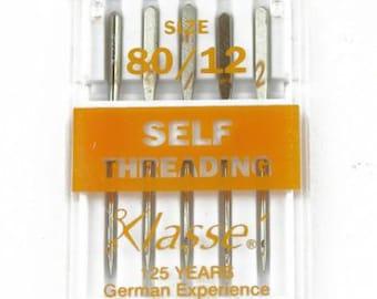Klasse Carded Self-Threading Machine Ndl Size 12/80 5ct