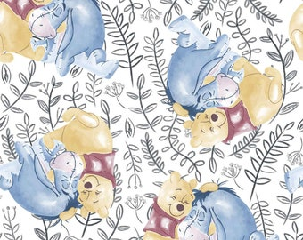 Pooh and Eeyore Best Friends Disney Fabric By The Yard and half yard and various lengths