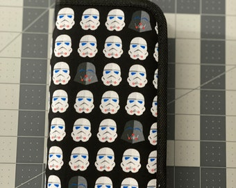 "Star Wars Craft Case, Storm Troopers & Darth Vader Craft Case 8""x4""x1"""
