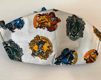Harry Potter Face Mask Kit, Do It Yourself Non-Medical Grade Face Mask Kit, Includes 2 layers fabric, elastic & pattern