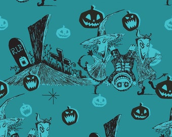 Graveyard Fun Disney Nightmare Before Christmas Fabric by the yard and other various lengths