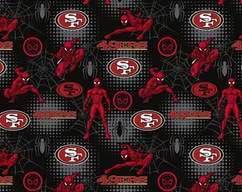 This Will Not Ship Until October 2020, Read Item Details On How To Order, San Francisco 49ers and Spider Man fabric in various lengths