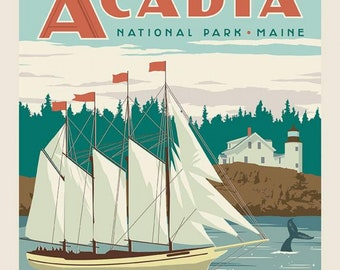 """Acadia National Parks Panel 36""""x44"""""""
