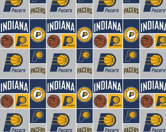Indiana Pacers NBA Fabric in various lengths