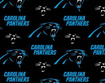 """Carolina Panthers NFL Black Fabric in various lengths by 59"""" width"""