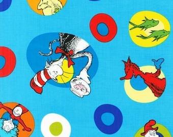 Blue Celebrate Seuss Fabric from Robert Kaufman