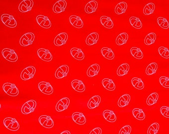 Pixar The Incredibles Logo Fabric By The Yard and half yard and other various lengths