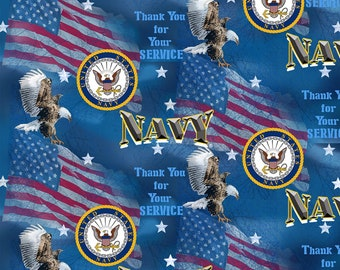 US Navy Flags Blue Fabric in various lengths