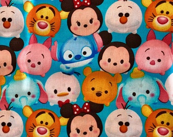 Disney Tsum Tsum Fabric By The Yard Featuring Various Characters and other various lengths