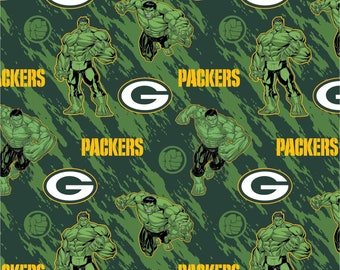 This Will Not Ship Until October 2020, Read Item Details On How To Order, Green Bay Packers and The Hulk fabric in various lengths