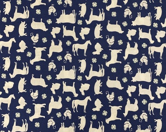 4H  Blue Fabric by the yard and other various lengths