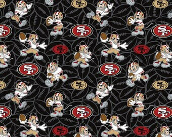 This Will Not Ship Until October 2020, Read Item Details On How To Order, San Francisco 49ers and Mickey Mouse fabric in various lengths