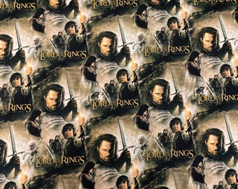 The Lord of the Rings & The Hobbit Return of King Digital Print Fabric by the yard and other lengths
