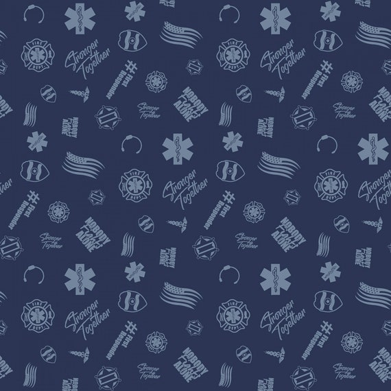First Responders Blue Fabric