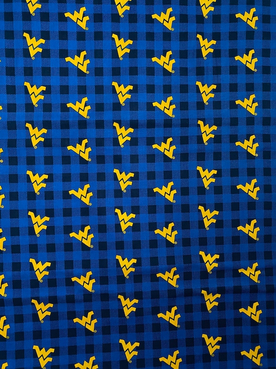 West Virginia University Plaid Fabric