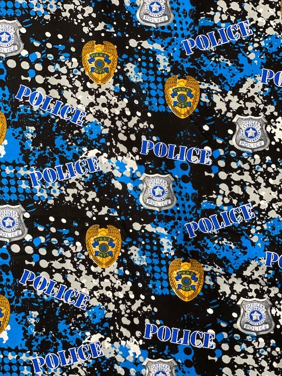 Police Theme Fabric
