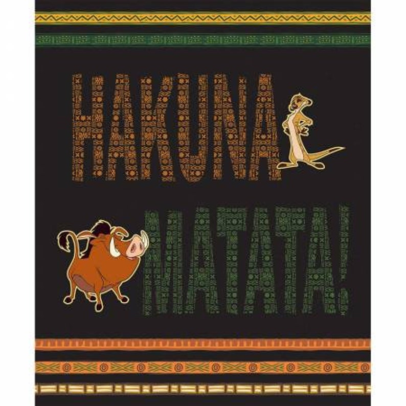 Disney The Lion King Hakuna Matata Full Yard Panel