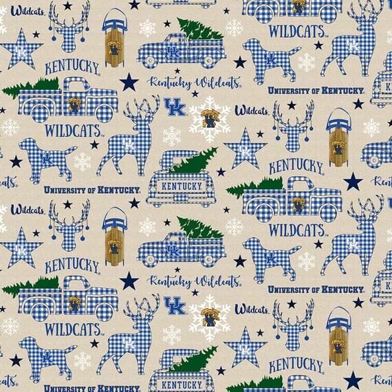 Kentucky Wildcats Christmas fabric