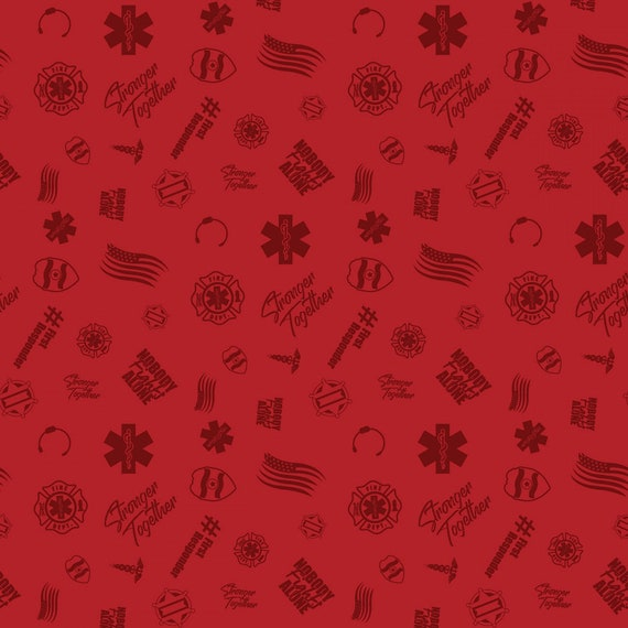 First Responders Red Toss Fabric