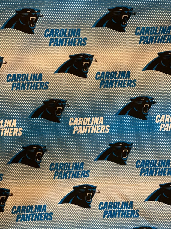 """Carolina Panthers Fabric, Panters Fabric, NFL Fabric in various lengths by 59"""" width"""