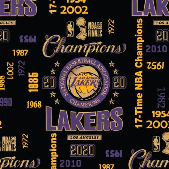 Pre-Order Lakers Champions Limited Edition Fabric, This Will Not Ship Until April 2021, Please Read Item Description On How To Order
