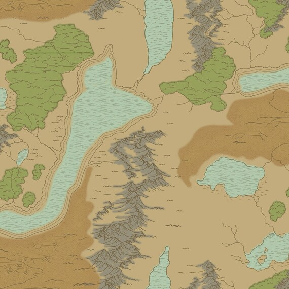 National Parks Map Sand Fabric