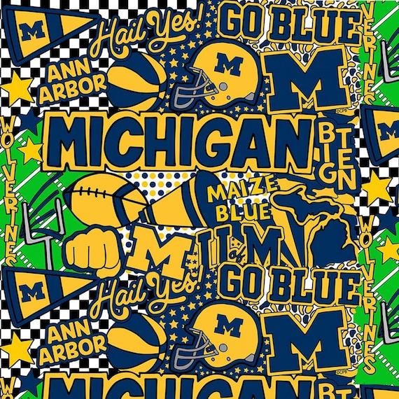 Michigan Wolverines Fabric