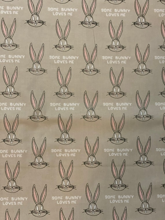 Bugs Bunny Toss Fabric in various lengths