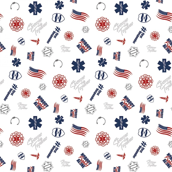 First Responders White Toss Fabric in various lengths