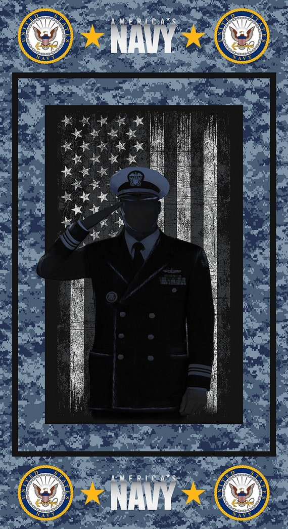"US Navy Fabric Panel 22""x44"""