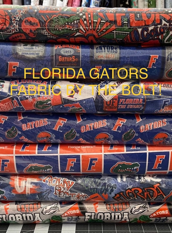 Florida Gators Fabric by the Bolt