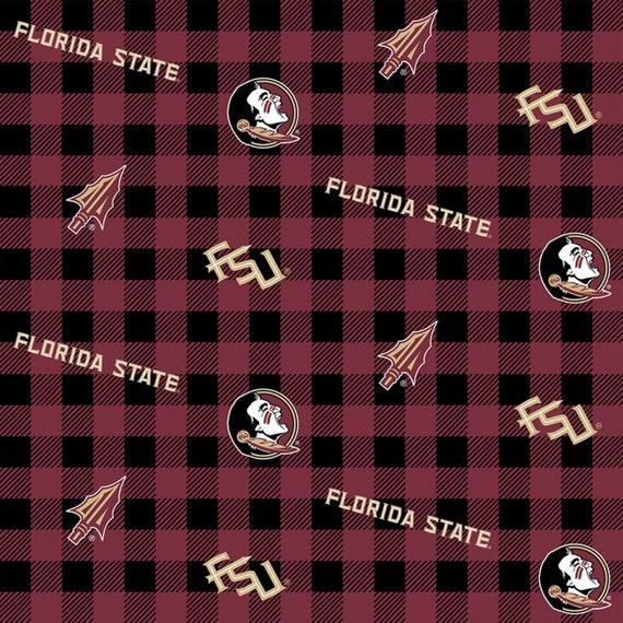Florida State University Plaid Fabric
