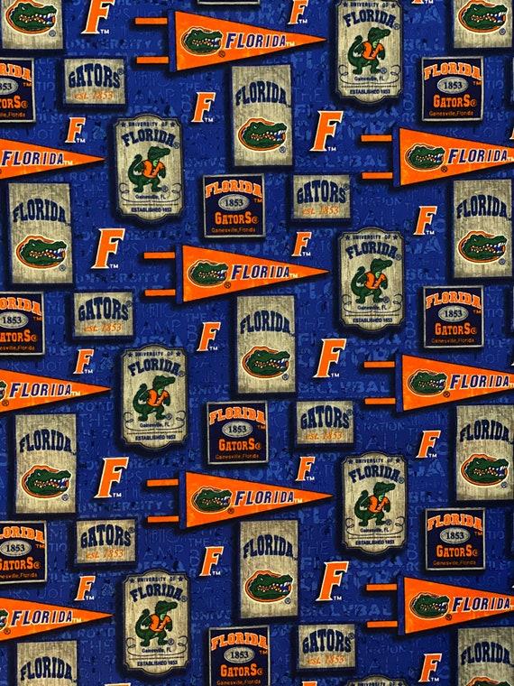 Florida Gators Vintage Pennants Fabric