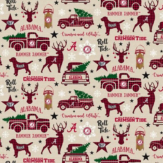Alabama Crimson Tide Christmas fabric