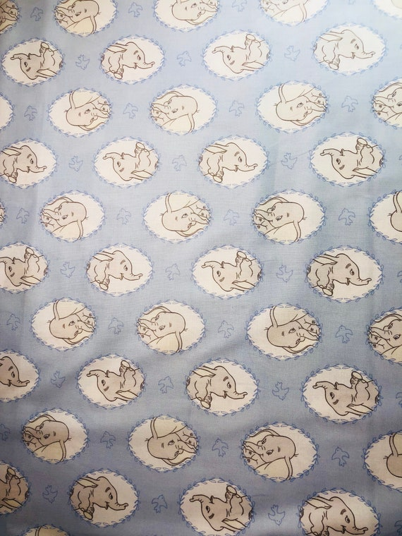 Dumbo Fabric, Disney Dumbo Fabric, Dumbo Frames Fabric By various lengths