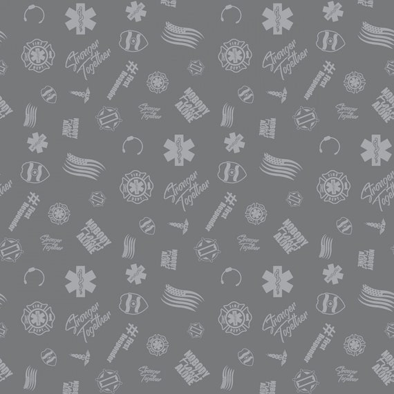 First Responders Gray Fabric