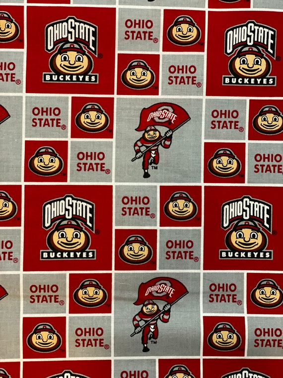 Ohio State Buckeyes Logo/Block fabric by other various lengths